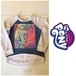 My Little Pony high low sweater top Size 7/8